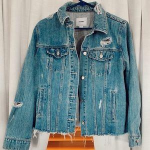 Distresses Denim Jacket
